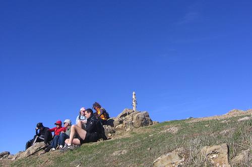 Hikers at Mission Peak summit