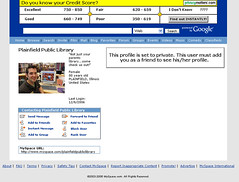 library myspace  page