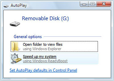 vista readyboost autoplay