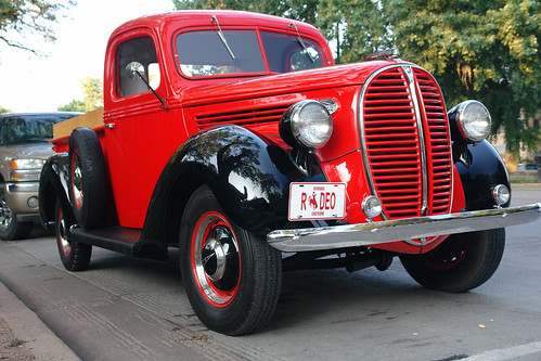 Red Ford  Antique Car