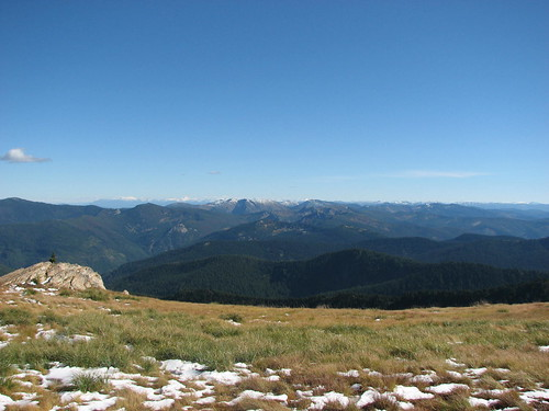 the view from the top of Illinois Peak, near the Idaho boarder