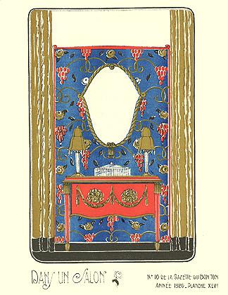 Bagge et Huguet, La Gazette du Bon Ton, Dans un Salon, 1920
