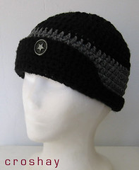 comrade croshay button brim beanie