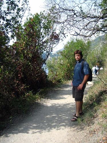 Husbear on the Trail to Corniglia