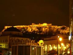 La Acrópolis por la noche