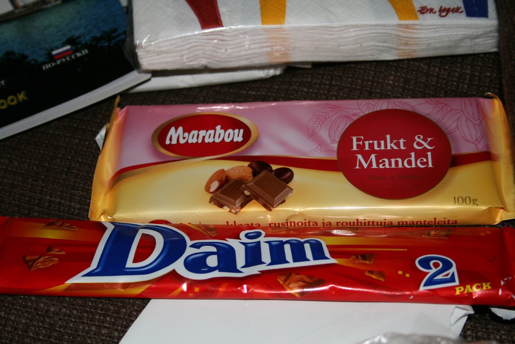 Swedish chocolates: Daim and Marabou