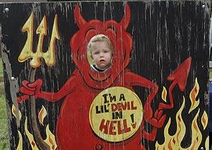 Kleinkind in der Hölle