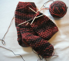 vermont socks in progress
