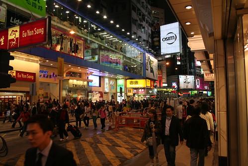 Causeway Bay, Hong Kong, on a March night