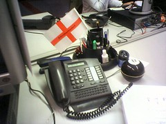 Telephone on my desk at work...