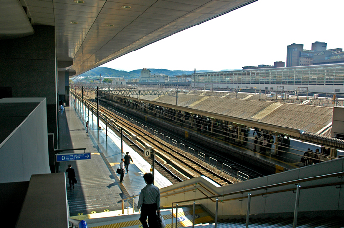 京都車站的月台