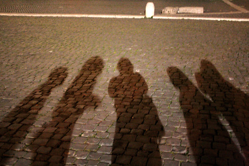 shadows by the colosseum