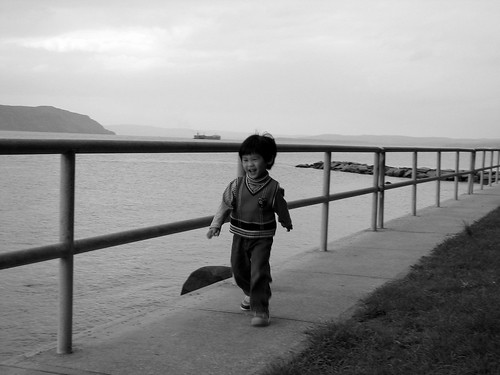 Julian Running by Hudson  River