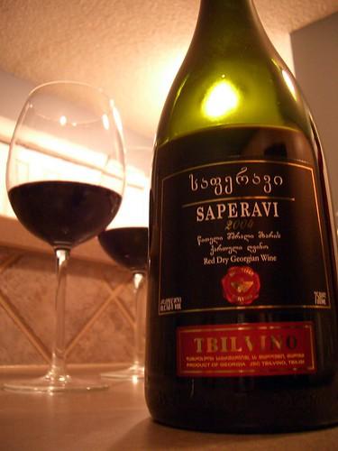 Saperavi wine