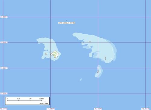 Cayo Arenas - Marplot Map (1-25,000)