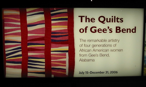 Quilts of Gee's Bend at the DeYoung Museum in San Francisco