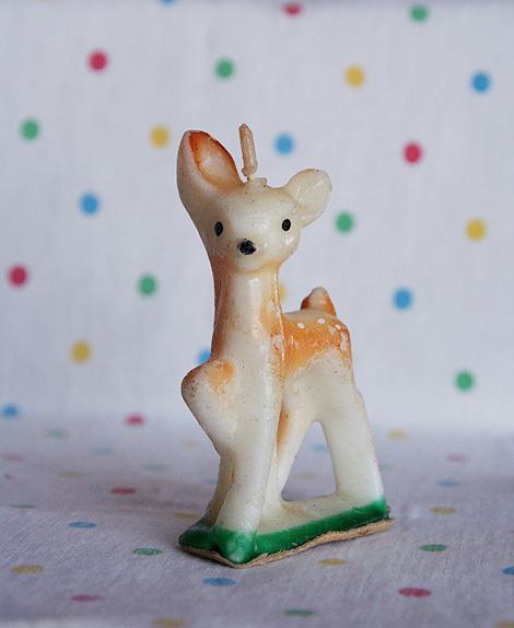 vintage deer candle