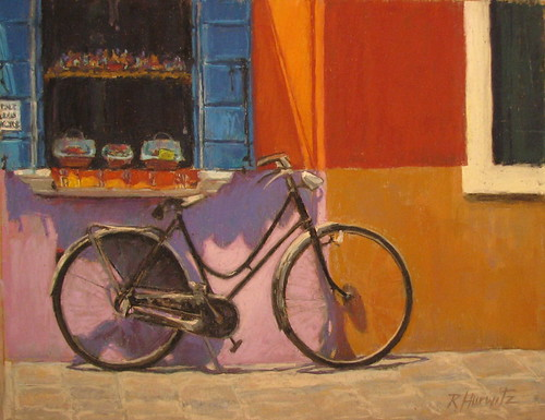 Rhonda hurwitz studio afternoon in burano italy with for Bicycle painting near me