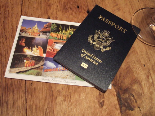 passport + postcard