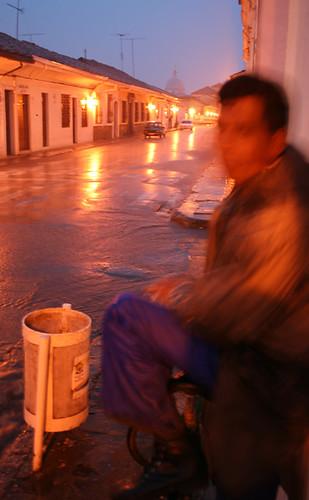 Lluvia sobre Popayán