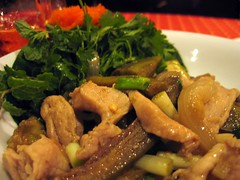 Stir-fried pork and eggplant - 3 Nagas