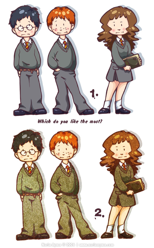 Trio Harry, Ron, Hermione