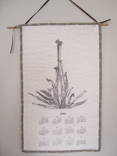 Pitcher plant quilted calendar