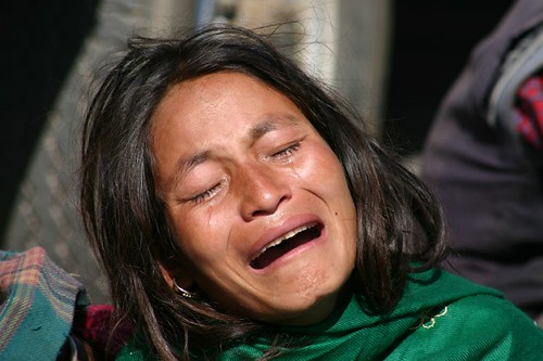 Emotional outburst at the Pashupatinath cremation site, Kathmandu - Nepal