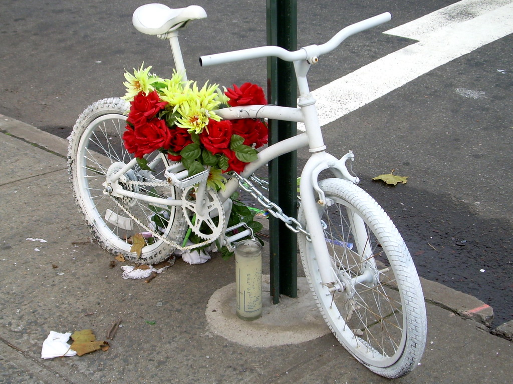 ghost bike, east new york