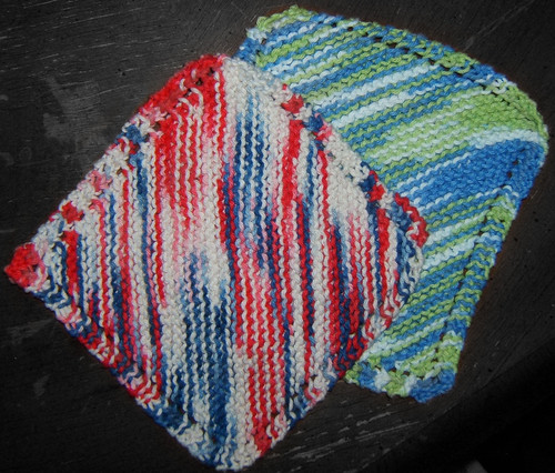 Knitted Alphabet Dishcloth Patterns : Saving Nine: Dishcloth Knitting