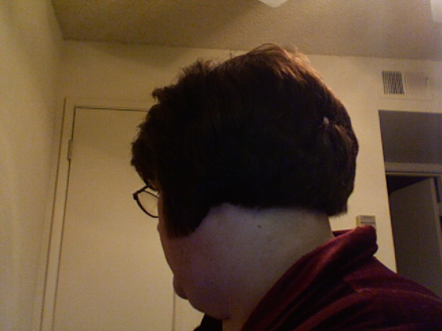 After Haircut, back
