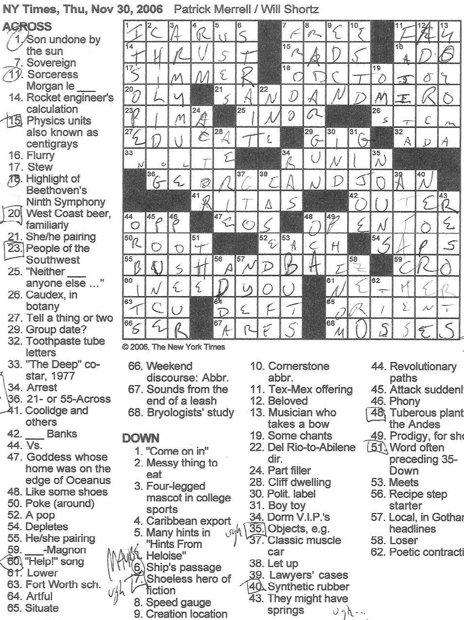 meet one demise crossword clue
