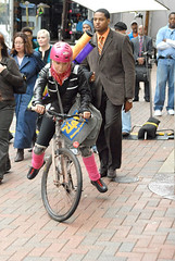 Jessica Simpson as bicycle messenger in Blonde Ambition