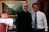 Fr. Augustine Kelly, O.S.B. and Sen. John Edwards