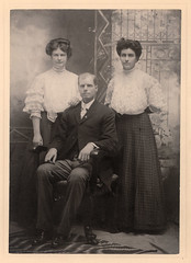 vintage portrait of man and two women photo by freeparking :-|