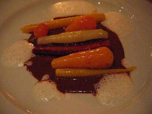 L'Arpege - Carrots in Chocolate w/ Sweet Onion Foam
