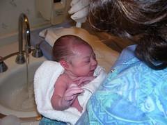 a brisk first bath