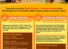 Windows Vista, Office 2007, Exchange Server 2007 Sneak Preview