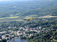Piper Cub Over Spencer, MA