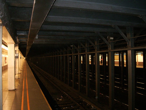 Empty subway station in NYC