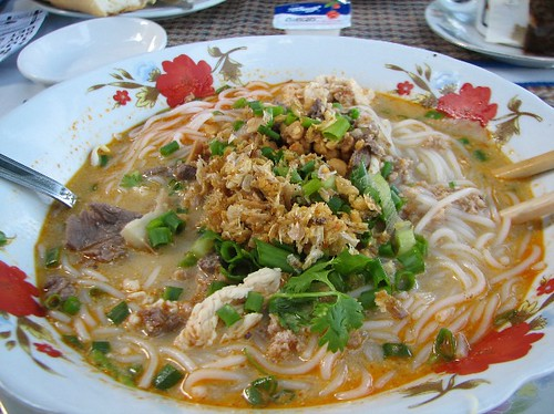 Noodle with pork, beef and pork with spicy