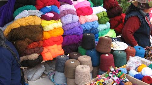 Yarn for weavers (mostly synthetic dyes)