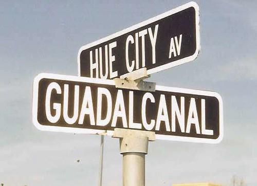 MCRD street sign