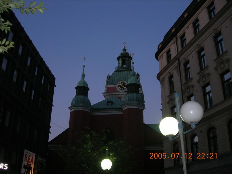 斯德哥尔摩晚上10点多时的天色仍然像北京的黄昏