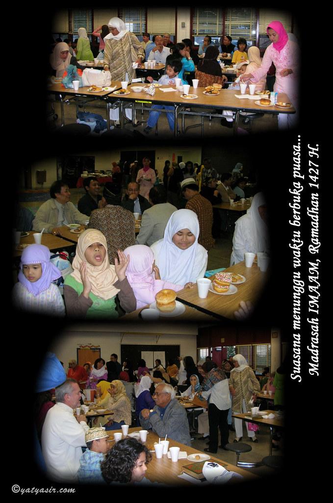 menunggu waktu iftar buka puasa ibu ibu dan bapak bapak