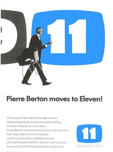 Vintage Ad #81 - Pierre Berton moves to Eleven!