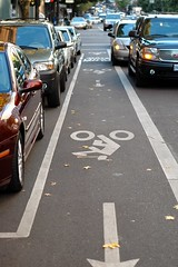 Heathman Hotel bike lane