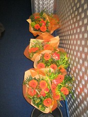 Bouquets ready for presentation