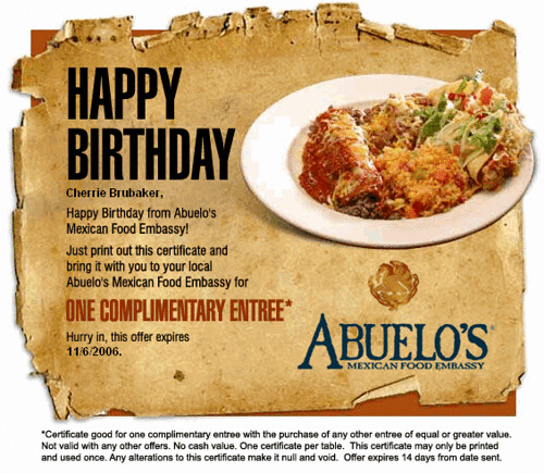 Happy Birthday from Abuelo's