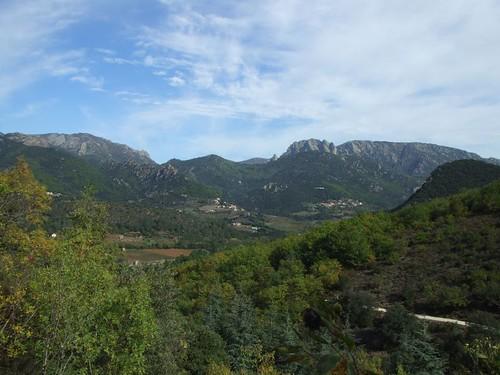vue sur le Caroux du chemin de Lisson - Blick auf den Caroux vom Weg nach Lisson aus
